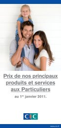 Tarifs Particuliers 2011V2.indd - CIC