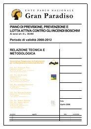 Relazione tecnico metodologica - Parco Nazionale Gran Paradiso