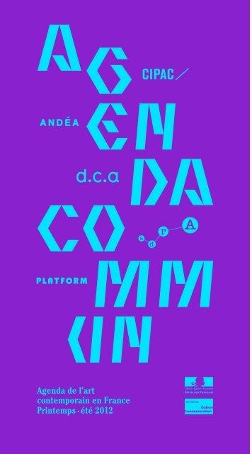 Télécharger l'Agenda Commun Printemps-été 2012 - Cipac
