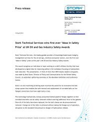 at UK Oil and Gas Industry Safety Awards - Stork Technical Services