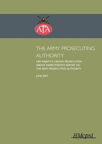 Army Prosecuting Authority Report - HMCPSI