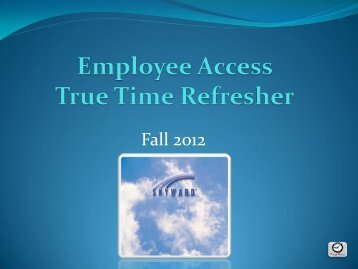 True Time & Time Off Refresher