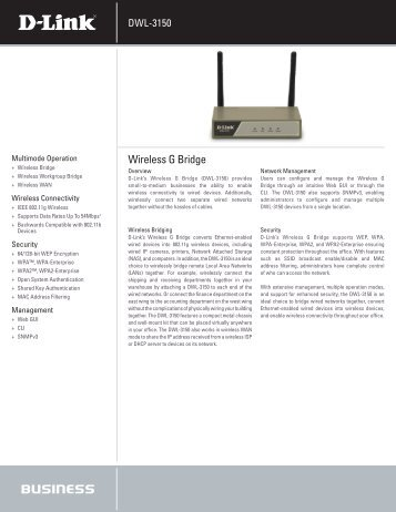Wireless G Bridge - D-Link
