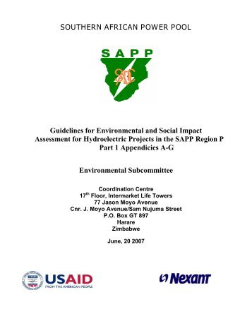 Sapp sustainability bulletin southern african power pool appendix a angola southern african power pool sciox Images