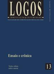 Ensaio e crônica - Logos - UERJ