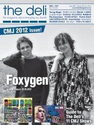 CMJ 2012 Issue! - The Deli