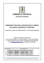 Relazione Studio Geologico - Comune di Treviglio