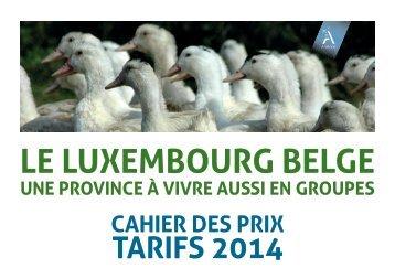 la grille des tarifs - Fédération touristique du Luxembourg belge