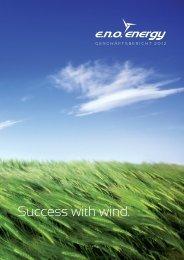 Geschäftsbericht eno energy GmbH - 2012