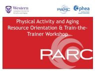 here - PARC - The Physical Activity Resource Centre - Ophea.net