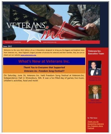 June 2012 - Veterans Inc