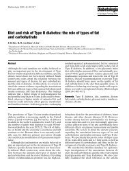 Diet and risk of Type II diabetes: the role of types of ... - ResearchGate