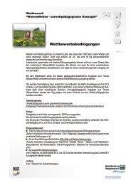Wettbewerbsbedingungen 2012 - Umwelttag in Mecklenburg ...