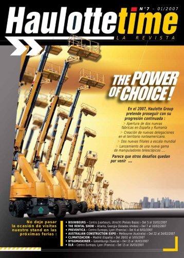 En el 2007, Haulotte Group pretende proseguir con su progresión ...