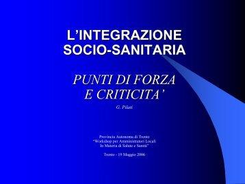 Risultati di salute intermedi - Trentino Salute