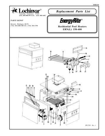 Lochinvar Boiler Parts List