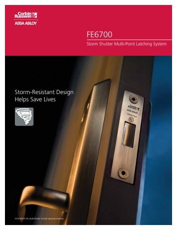 FE6700 Catalog - Corbin Russwin