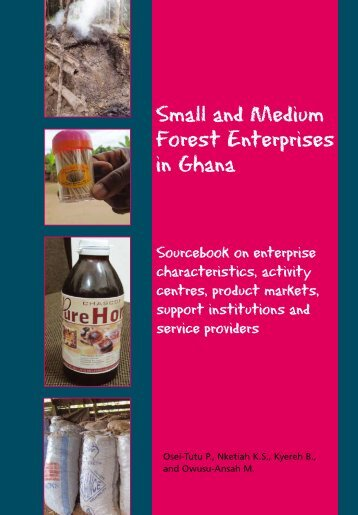 Small and Medium Forest Enterprises in Ghana (2012) - PROFOR