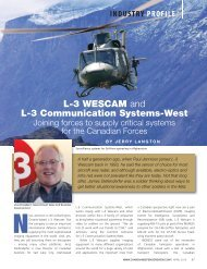 L-3 WESCAM and L-3 Communication Systems-West; Joining forces ...