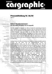 Pressemitteilung Nr. 06/09 - Cargraphic