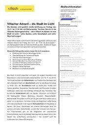 Eröffnung Villacher Advent 2012 - Stadtmarketing Villach