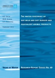 Water footprint of soy products - Water Footprint Network