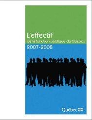 Effectif de la fonction publique du Québec 2007-2008