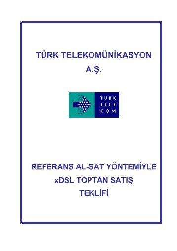 TÜRK TELEKOMÜNİKASYON A.Ş. REFERANS AL-SAT ...