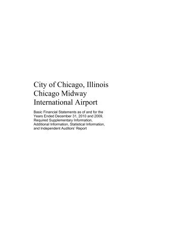 City of Chicago, Illinois Chicago Midway International Airport