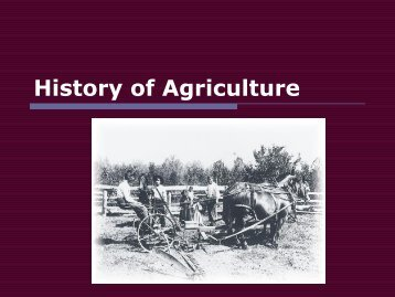 History of Agriculture - Carlisle County Schools