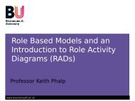 Role Models and Role Activity Diagrams (RADs) - School of Design ...