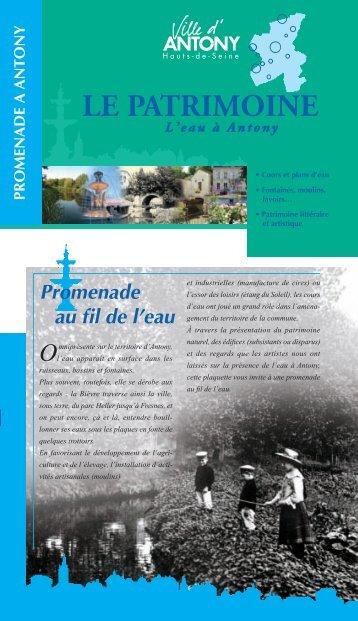 Dépliant patrimoine 2008 - Ville d'Antony