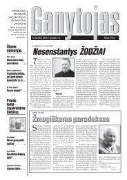 Nr. 23 (264) 2007 m. gruodžio 1 d. - Krikščionių bendrija TIKĖJIMO ...