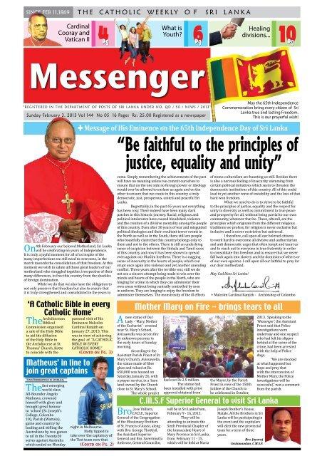 Messenger - Queen Of Angels Catholic Church (Rawathawatte