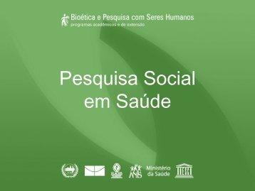 Pesquisa Social em Saúde - Anis