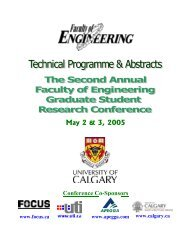 Presentation Abstracts - The Schulich School of Engineering ...