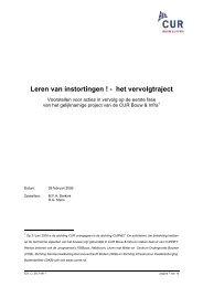 Leren van instortingen ! - het vervolgtraject - Vereniging BWT ...