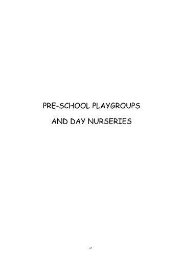 PRE-SCHOOL PLAYGROUPS