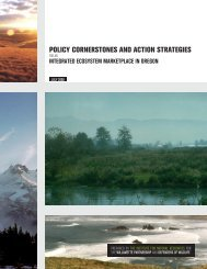policy cornerstones and action strategies - Willamette Partnership