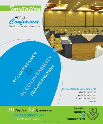 Conference Booklet - The Lesotho Institute of Accountants