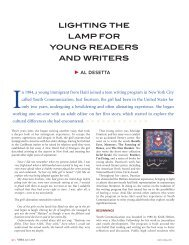 lighting the lamp for young readers and writers - Youth Communication