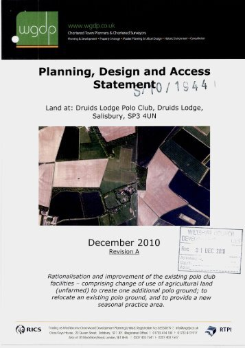 Design and Access Statement - Planning Applications - Wiltshire ...