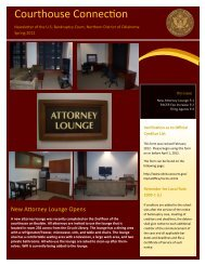 Spring Newsletter 2012 - Northern District of Oklahoma