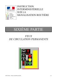 Feux de circulation permanents - cfpsaa