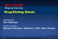 Stent thrombosis in 1st Generation DES - Summit-tctap.com