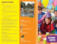 Birthday Party Brochure - New Orleans City Park