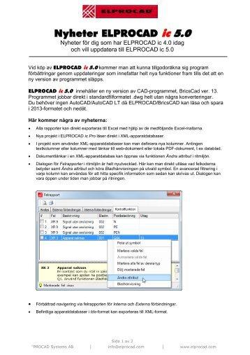 Nyheter ELPROCAD ic 5.0