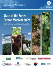 State of the Forest Carbon Markets 2009 01 - Ecosystem Marketplace