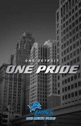 2013 MEDIA GUIDE - Detroit Lions