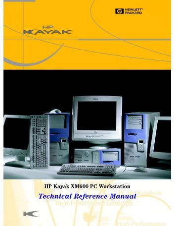 Technical Reference Manual - Business Support Center - Hewlett ...